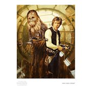 Star Wars Han and Chewie by Christopher Clark Paper Giclee Art Print