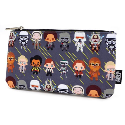 Star Wars Solo Chibi Character Print Pencil Case