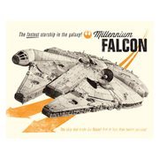Star Wars Millenium Falcon Fastest Starship in the Galaxy Canvas Print