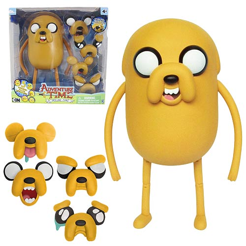 adventure time 10 inch jake with changing faces figure