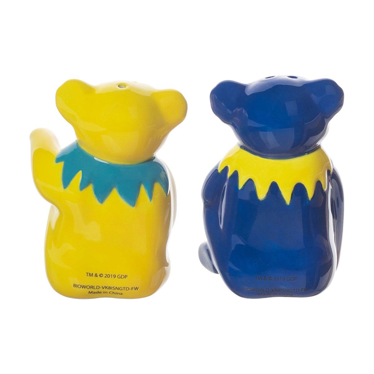 Grateful Dead Dancing Bears Sculpted Ceramic Salt And Pepper Shaker Set