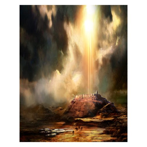 Star Wars Jedha's Doom by Cliff Cramp Canvas Giclee Art Print