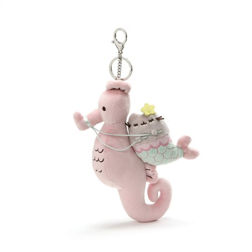 Pusheen the Cat Pusheen Mermaid Seahorse 8 1/2-Inch Plush Key Chain