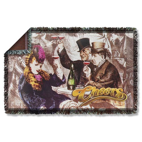 Cheers Old Fashioned Woven Tapestry Blanket