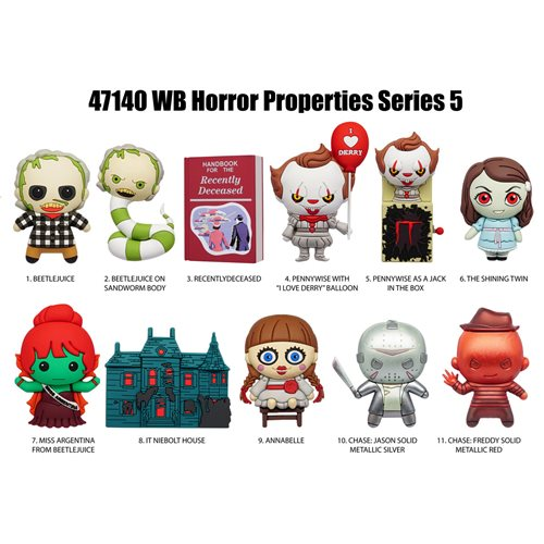 Horror Series 5 Figural Bag Clip  Random 6-Pack
