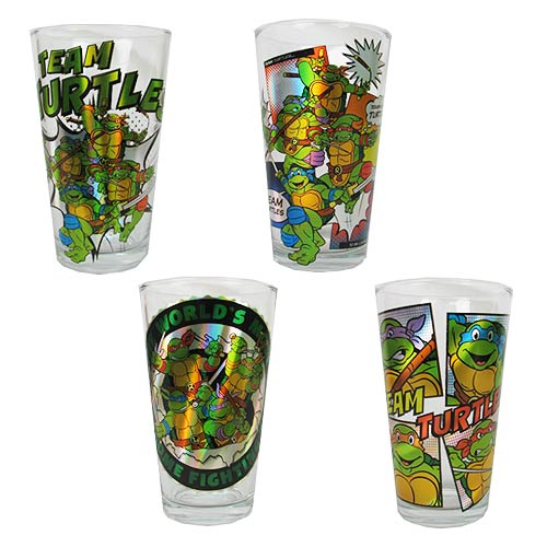 Teenage Mutant Ninja Turtles Gang 16 oz. Pub Glass 4-Pack