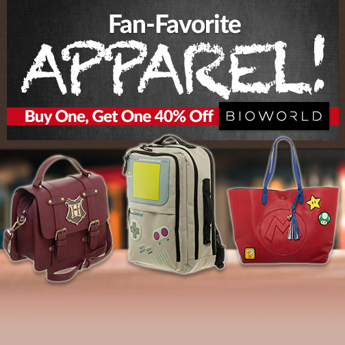 Fan-Favorite Apparel! BOGO 40% Off Bioworld