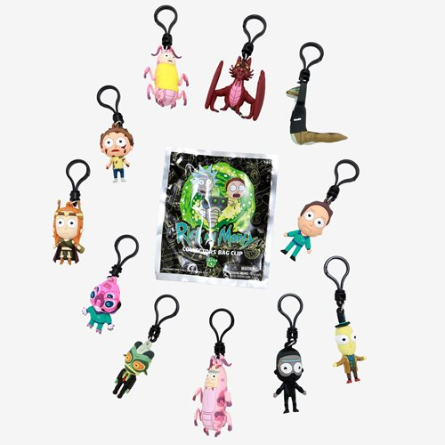 Rick and Morty Series 4 Figural Bag Clip Random 6-Pack
