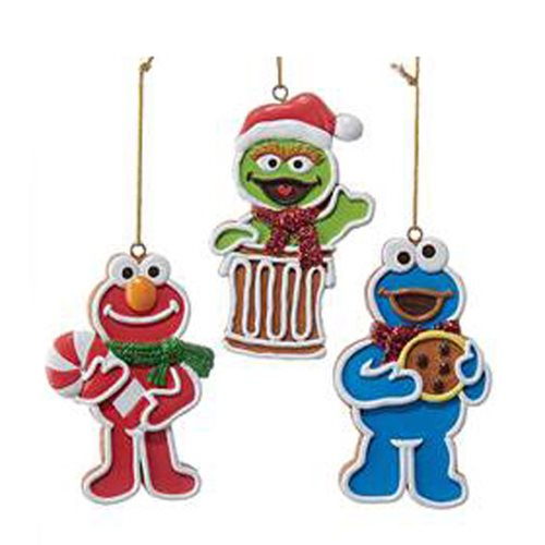 Sesame Street Gingerbread Characters 3 1/2-Inch Ornament Set