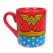 Wonder Woman Uniform Glitter 14 oz. Ceramic Mug