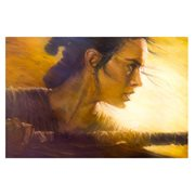 Star Wars: The Force Awakens Rey by Christopher Clark Canvas Giclee Art Print