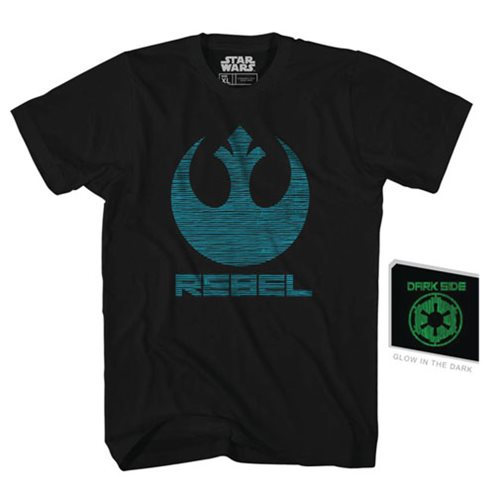Star Wars Double Agent Black Glow-in-the-Dark T-Shirt - Previews Exclusive