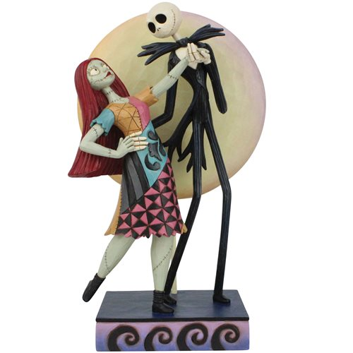 Disney Traditions Nightmare Before Christmas Jack and Sally Romance A Moonlit Dance by Jim Shore Statue