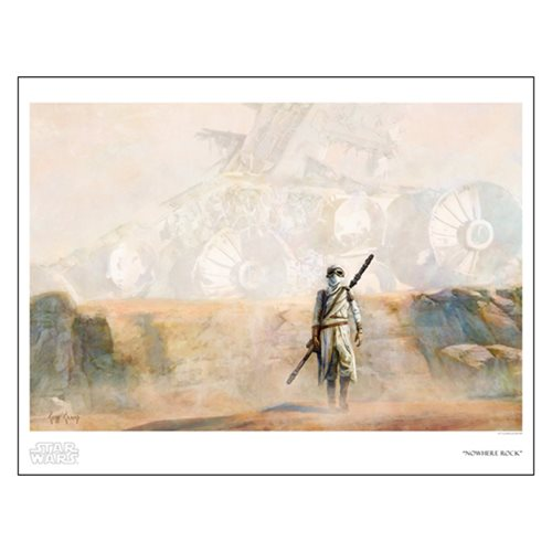 Star Wars Nowhere Rock by Cliff Cramp Paper Giclee Art Print