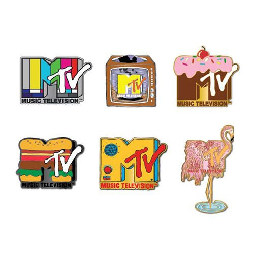 MTV Logos Blind-Box Enamel Pins 12-Piece Display Tray