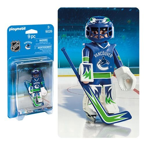 Playmobil 9026 NHL Vancouver Canucks Goalie Action Figure