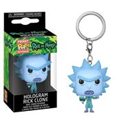 Rick and Morty Hologram Rick Pocket Pop! Key Chain