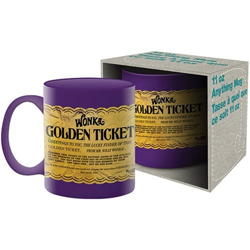 Willy Wonka and the Chocolate Factory Golden Ticket 11 oz. Mug