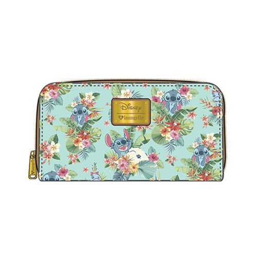 Lilo & Stitch Tropical Floral Print Zip-Around Wallet