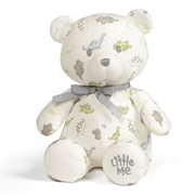 Little Me Dino Print Teddy Bear 10-Inch Plush