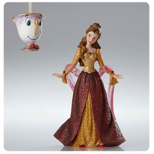disney showcase beauty and the beast christmas belle statue and chip ornament