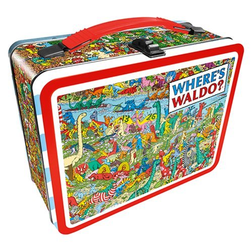 Where's Waldo Dinosaurs Gen 2 Fun Box Tin Tote