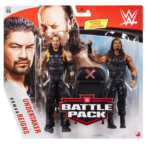 WWE Roman Reigns and Undertaker Basic Series 66 Action Figure 2-Pack