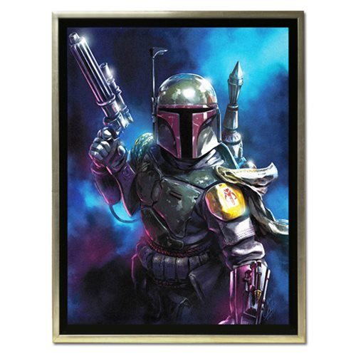 Star Wars From the Shadows by Santi Casas Framed Canvas Giclee Art Print