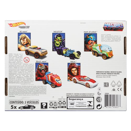 Masters of the Universe Hot Wheels Character Car 5-Pack