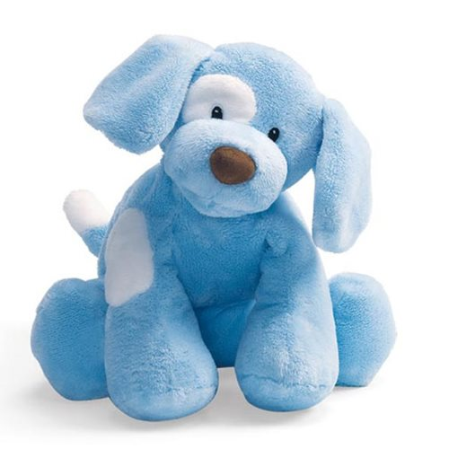 Spunky Dog Blue Medium 10-Inch Plush