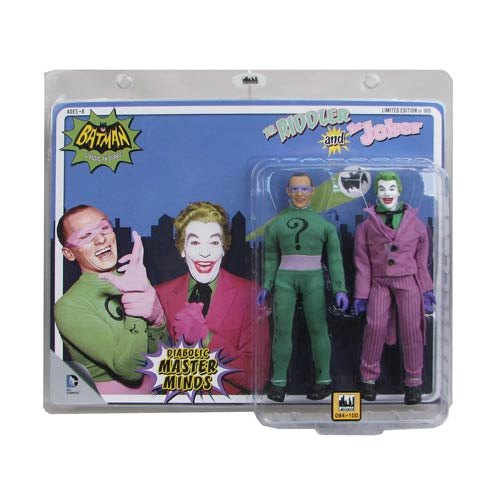 Batman Classic 1966 TV Series The Joker vs. The Riddler 8-Inch Action Figure Set