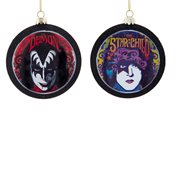 KISS Demon and Starchild 3-Inch Glass Disc Ornament