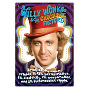 Willy Wonka and the Chocolate Factory Recipe Tin Sign
