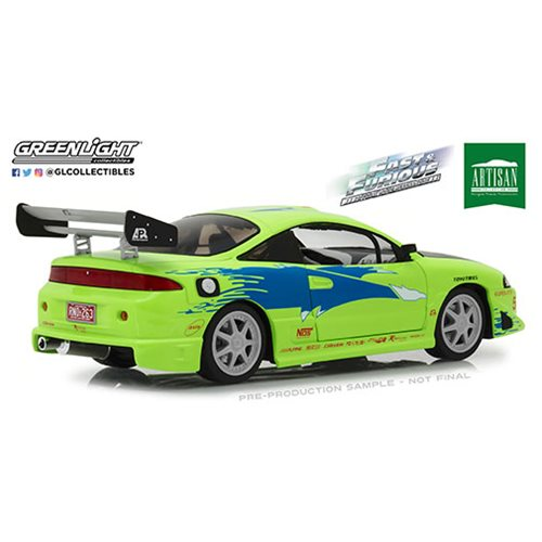 The Fast and the Furious (2001) -1995 Mitsubishi Eclipse Artisan Collection 1:18 Scale Die-Cast Meta
