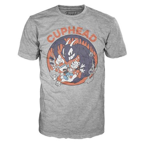 Cuphead Mugman and Devil Gray Pop! T-Shirt