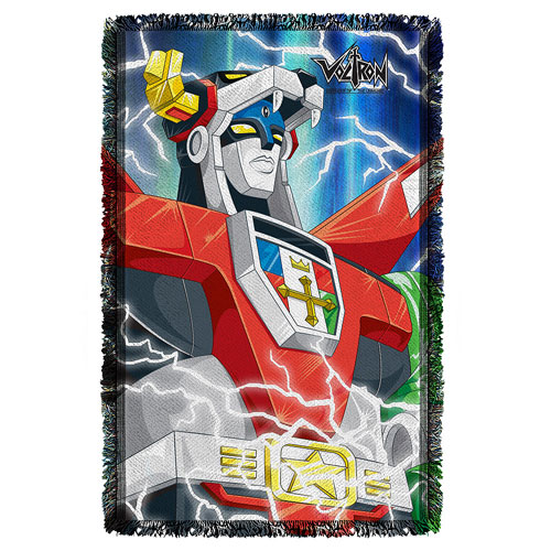 Voltron Lightning Combine Woven Tapestry Throw Blanket
