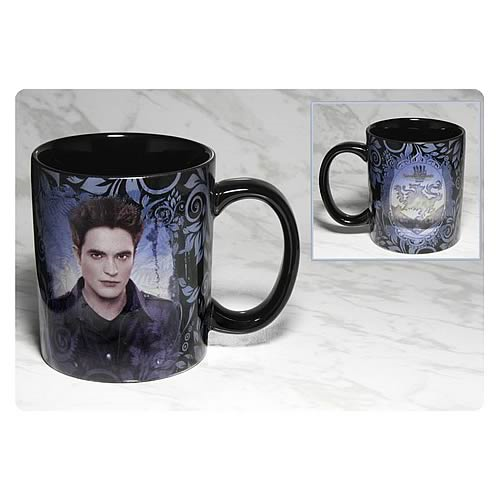 Twilight Breaking Dawn Part 2 Edward and Crest Black Mug
