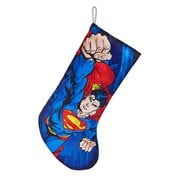 Superman 19-Inch Printed Blue Stocking