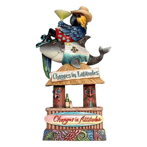 Margaritaville Stacked Party Changes in Latitude Tiki Heartwood Creek Statue by Jim Shore