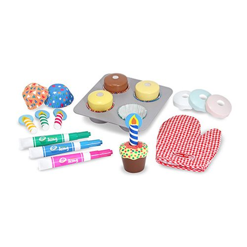 Melissa & Doug Bake and Decorate Cupcake Set Wooden Playset