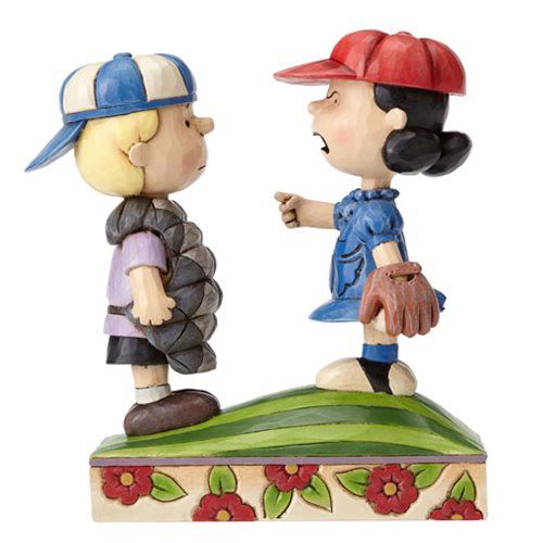 Peanuts Jim Shore Baseball Schroeder and Lucy Statue