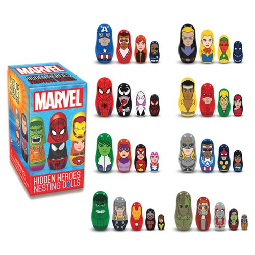 Marvel Hidden Heroes Nesting Dolls Blind Box Case