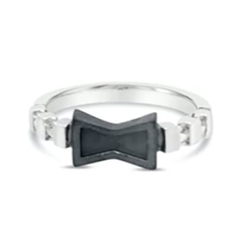 Black Widow Two-Tone Black Ring