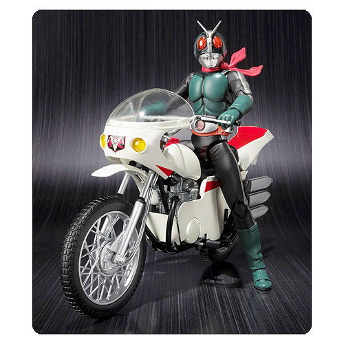 Kamen Rider 2 Masked Rider 2 and Remodeled Cyclone SH Figuarts Action Figure and Motorcycle Vehicle 2-Pack