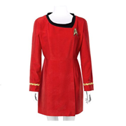 Star Trek the Original Series 50th Anniversary Operations Red Velour Line Dress Prop Replica