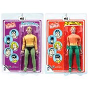 Aquaman DC Comics Retro Mego Style Action Figure Set