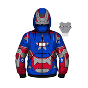 Iron Man 3 Iron Patriot Youth Hooded Costume Fleece Zip-Up Sweatshirt