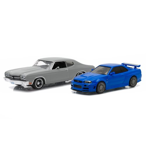 Fast and Furious Drag Race Scene 1:43 Scale Die-Cast Metal Vehicle 2-Pack
