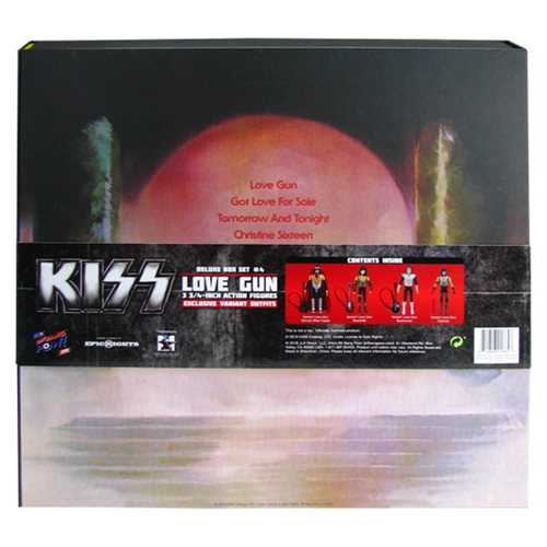 KISS Love Gun 3 3/4-Inch Action Figure Deluxe Box Set - Convention Exclusive