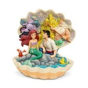 Disney Traditions Little Mermaid Seashell Scenario by Jim Shore Statue, Not Mint
